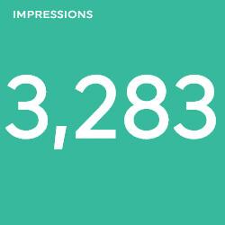 impressions social media report template