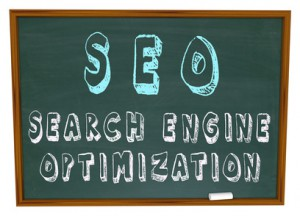 SEO Search Engine Optimization - Words on Chalkboard