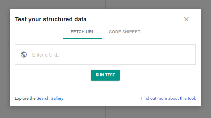 Structures data testing tool